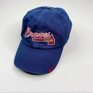 Atlanta Braves Nike Baseball Hat Blue Red One Size